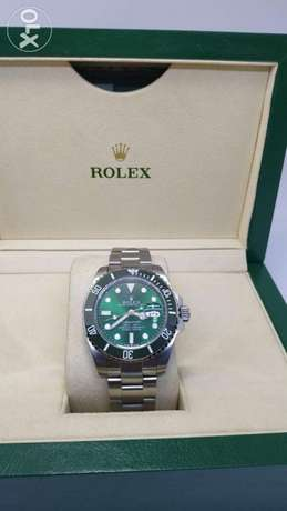 Replica Rolex submariner full silver green dial with small box
