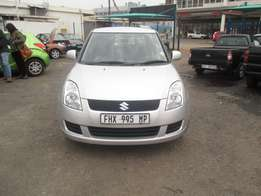 Finance available for 2010 Suzuki Swift,silver in color,4doors,R100000