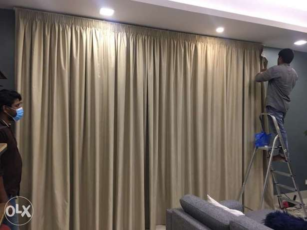 we are doing curtains carpet wallpaper sofa new and reupholstery