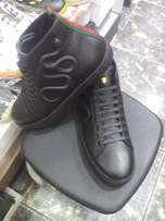 High top gucci sneakers-black