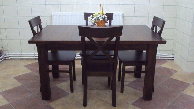 Krzesla Bukowe X Stol Rozkladany 140x90 2x35 Wklady Kuchnia