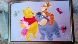 Winnie the Pooh and friends Acrylic painting