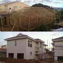 We build Log houses,log cabins, security offices and dog kennels