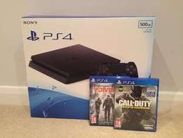 Sony PlayStation 4 Slim PS4 500gb With games + remote
