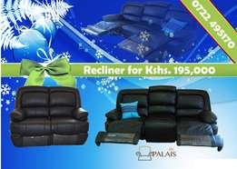 Recliner Leather Sofa set - Brand new
