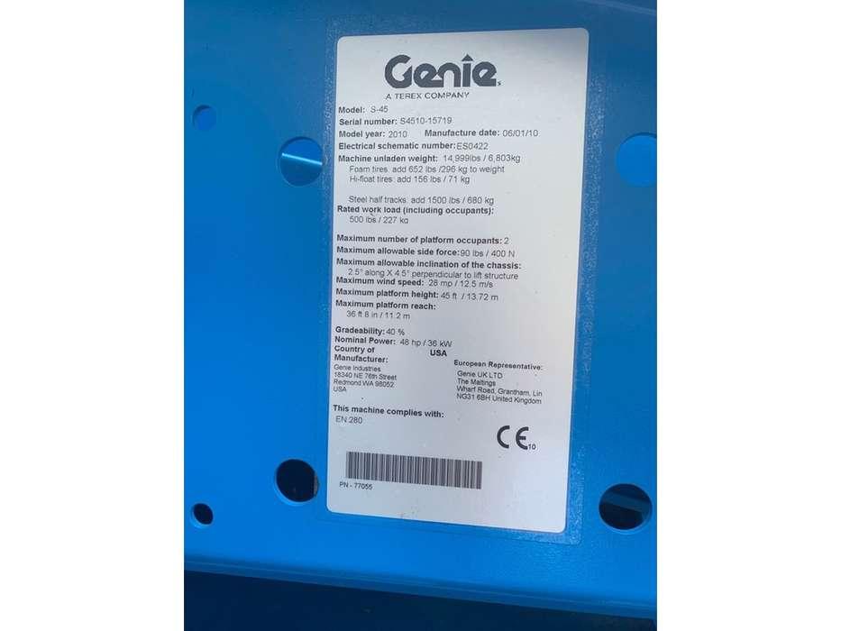 Genie S 45 4 WD hoogwerker - 2010 - image 9