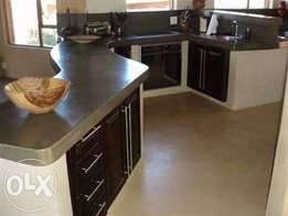 Concrete vanities and counter tops