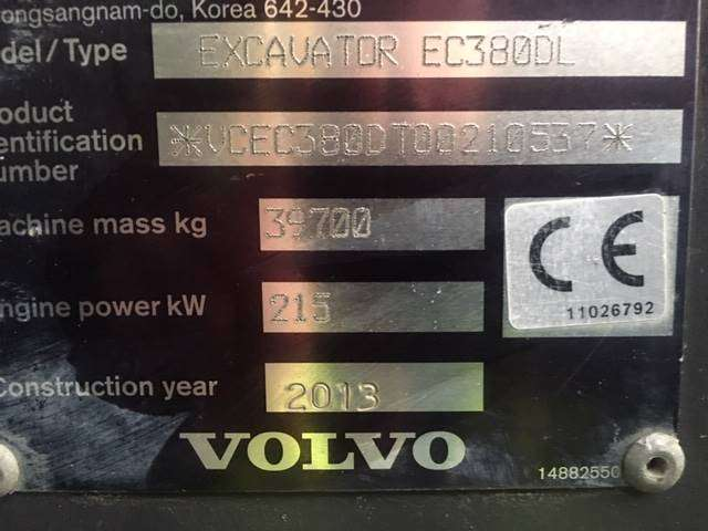 Volvo Ec380dl - 2013 - image 9
