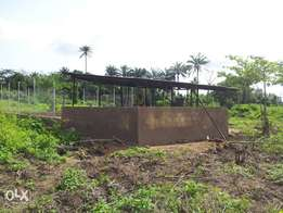 Farm land for sale with an existing structure on it.
