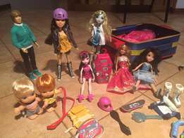 Monsters Inc, Justin Bieber and other dolls
