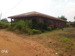 A 12 rooms hostel building with a plot of land with it for sale.call