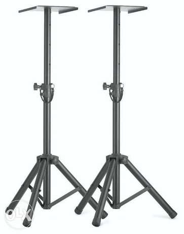 Stagg Two Height Adjustable Monitor or light stands with folding legs