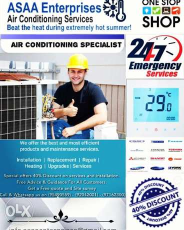We Offer 40% Discount on Air Conditioning Servicing. Get Free Quote