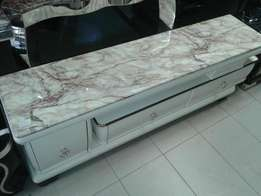 Marble top Adjustable tv stand