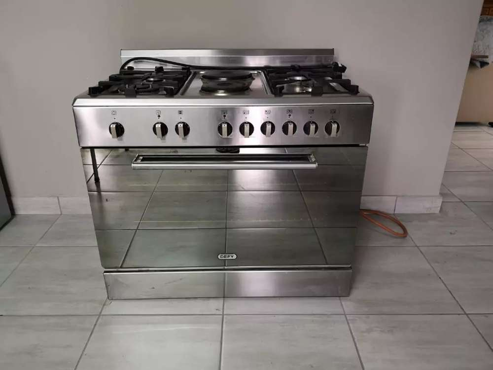 Defy 6 Burner Gas Electric Stainless