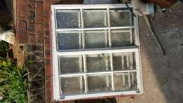 Bargain! Frosted Steel windows with burglar guards and paynes