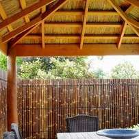 Bamboo ceiling and fence
