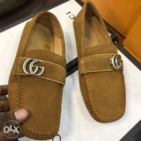New Brown Gucci loafers shoe for men