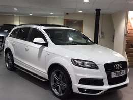 2010 Audi Q7 3.0 SLine diesel* Full Panoramic roof, 7seats, Fuji white