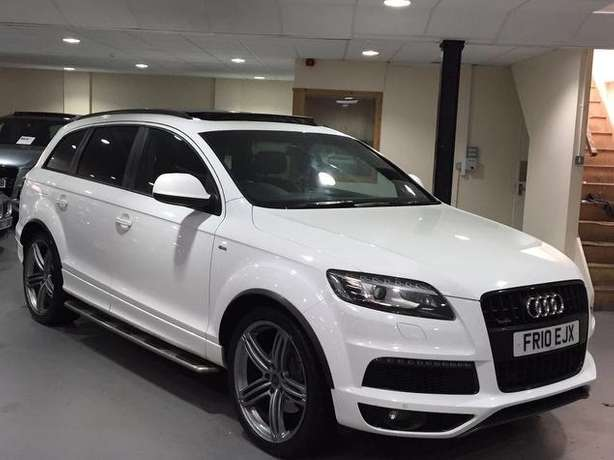 2010 Audi Q7 3.0 SLine diesel* Full Panoramic roof, 7seats, Fuji white Nairobi West - image 1