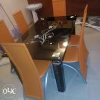 New Glass Dining Table Set (6 Seater)