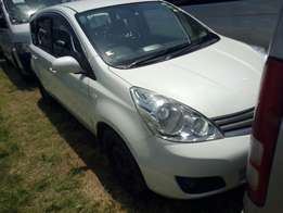 Newly imported nissan note 2010 model pearl white
