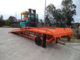 Hydraulic and Non Hydraulic mobile yard ramps for sale.