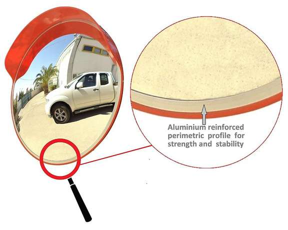 45cm Acrylic Convex Safety Mirror for Road Safety & Shop Security Port-Harcourt - image 1