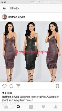 Soft Leather Bodycon Dress Ikeja - image 1