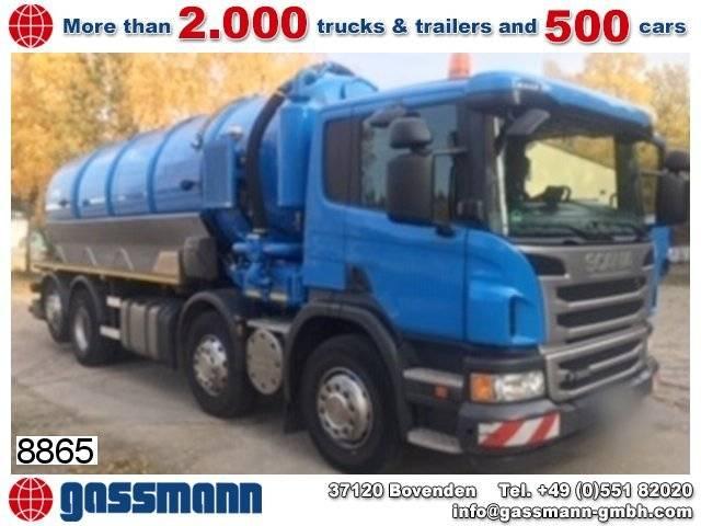 Scania p 360 lb 8x2-6 hna, lenk-/liftachse, saugwagen - 2013