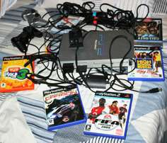 PS2 with 6games for sale