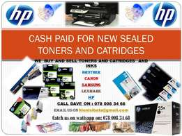 cashpayers for new sealed toners and catridges
