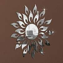 Silver Mirror Wall Stickers