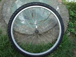 26inch bike tyre with rim for sale. R200