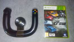 Xbox steering wheel and game