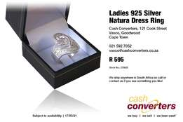 Ladies 925 Silver Natura Dress Ring for sale  Goodwood