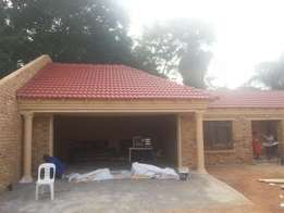 Building, double stores, slab, staircase, roffing, plastering, paving