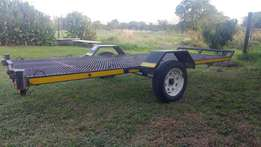 Quad trailer for two Bikes