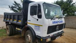 Mercedes benz tipper truck