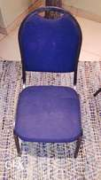 Blue padded chairs