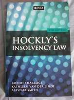 Hockly's insolvency law 9th edition(textbook for sale