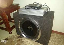 Base speakers,amplifier and equalizer