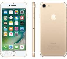 slightly used iphone 7 gold 32gb. mint condition. charging cable only