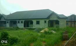uncompleted Bungalow of 4flats at opete