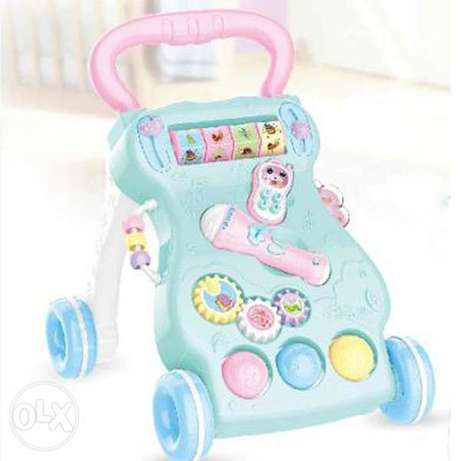 Musical Baby Walker With Anti-Skid Deceleration Shockproof Soft Ring