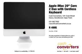 "Apple iMac 20"" Core 2 Duo with Cordless Keyboard"