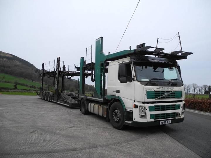 Volvo FM12  380 autotransporter + autotransporter aanhanger