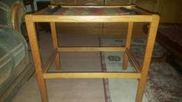 Wooden Glass top coffee table