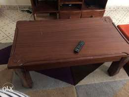 Table and TV holder hardwood set for sale