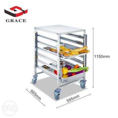 Stainless Steel GN Pan 6 Trays Trolley